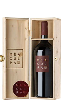 Mea Culpa Vino Rosso - Magnum in Holzkiste -