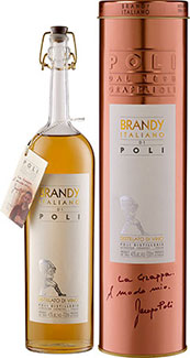 Brandy Italiano di Poli - in Geschenkröhre -