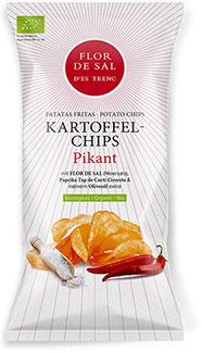 Chips mit Flor de Sal Tap de Corti Pikant - Bio