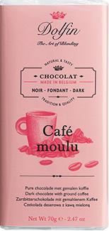Dolfin Zartbitter mit feingemahlenem Kaffee