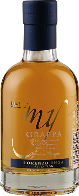My Grappa Affinata in Barrique Selection Miniatur